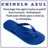 chinelo azul